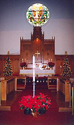Click for larger photo of the altar